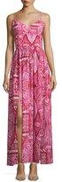 Amanda Uprichard Rio Geometric-Print Maxi Dress, Red Rose