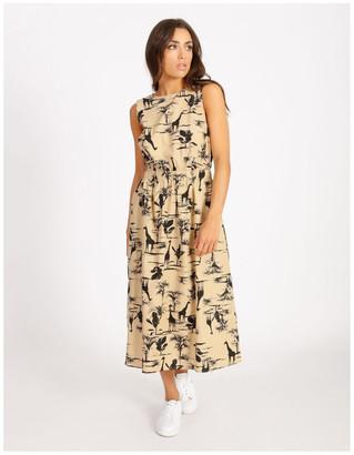 Hi There From Karen Walker Poplin Cut Out Midi Dress Lt