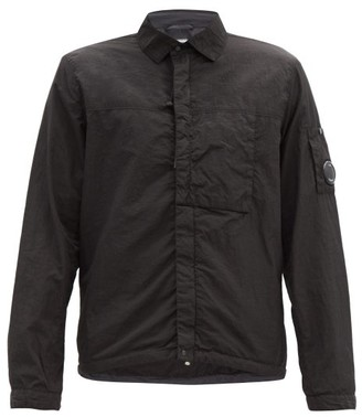 C.P. Company Zip-front Garment-dyed Shell Overshirt - Black