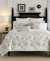 Croscill Devon Floral Embroidered King Duvet Cover
