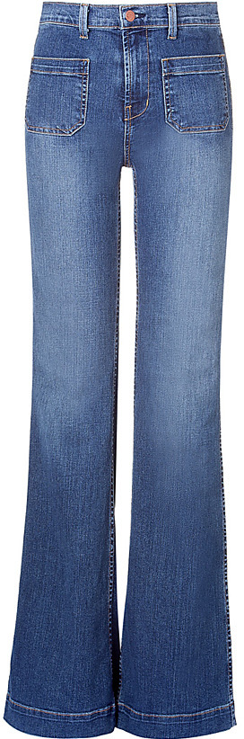J Brand Bette Blue High-Rise Wide Leg Jeans
