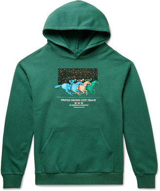 Pasadena Leisure Club Triple Crown Printed Fleece-Back Cotton-Jersey Hoodie