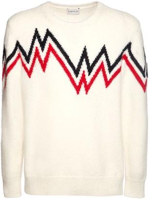 Moncler Logo Wool Blend Knit Sweater