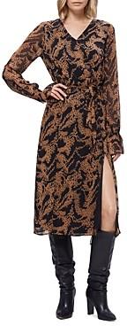Paige Silk Printed Faux-Wrap Dress