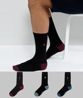 Original Penguin 3 Pack Black Socks