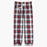 J.Crew Tall pajama pant in festive plaid cotton poplin