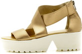 C Label Gold Platform Shoe