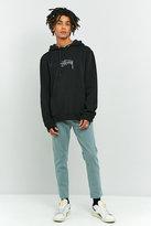 Loom Mint Raw Hem Tapered Dad Jeans