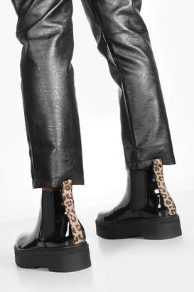 boohoo Cleated Sole Chunky Chelsea Boots