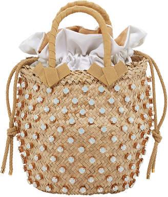 Le Nine Nina Small Opal-Crystal Studded Bucket Bag