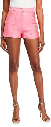 Brandon Maxwell High-Rise Pintucked Shorts