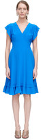 Rebecca Taylor Sleeveless V-Neck Silk Dress