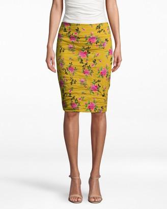 Nicole Miller Lotus Life Cotton Metal Skirt