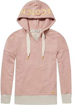 Scotch & Soda Maison Women's Oversized Hoody with Various Artworks,X-Small