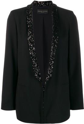 Fabiana Filippi embellished-lapel blazer