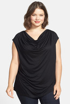 Nic+Zoe Drape Neck Top (Plus Size)