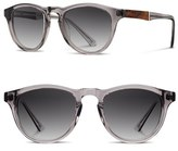 Shwood Men's 'Francis' 49Mm Sunglasses - Smoke/ Elm Burl/ Grey