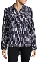 Tommy Hilfiger Dotted Button-Up Blouse