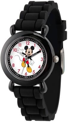 EWatchFactory Disney Mickey Mouse Boys' Black Plastic Time Teacher Watch