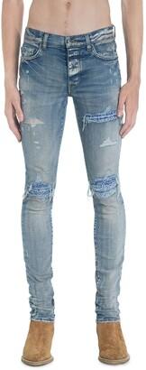 Amiri 15cm Mx1 Leather Bandana & Denim Jeans