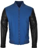 Versace Padded Bomber Jacket Blue