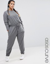 Asos Long Sleeve Jumpsuit in Sweat