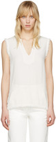Raquel Allegra Off-white Frayed Tank Top