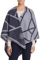 Tory Burch Fret Whip Stitch Blanket Scarf