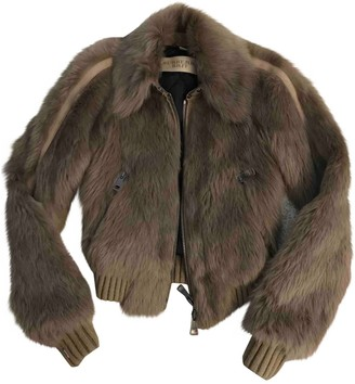 Burberry Beige Shearling Jacket for Women