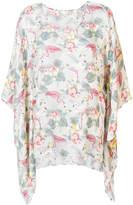 Xacus Clea flamingo print blouse