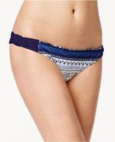 Roxy Printed Macrame Hipster Bikini Bottoms
