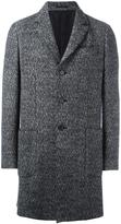 Z Zegna woven single breasted coat