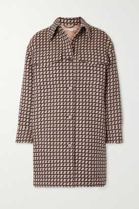 Stella McCartney Kerry Oversized Wool-jacquard Coat - Brown