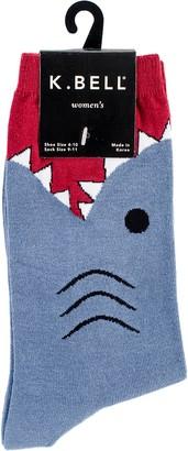 K. Bell Women's Wide Mouth Leg Eating Novelty Casual Crew Socks
