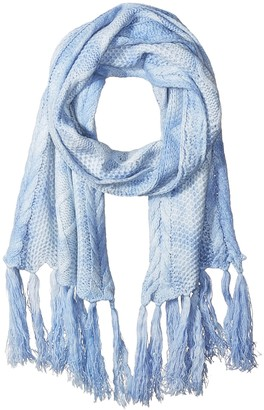 La Fiorentina Women's Cable Knit Tie-Dye Scarf