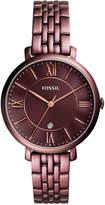 Fossil Women's Jacqueline Red-Tone Stainless Steel Bracelet Watch 36mm ES4100