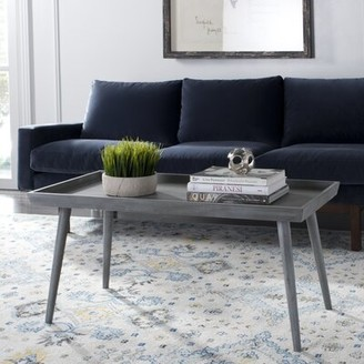 Lyle Coffee Table with Tray Top Mercury Row Color: Desert Brown