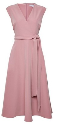 Dorothy Perkins Womens Lily & Franc Sleeveless Pink Wrap Dress, Pink