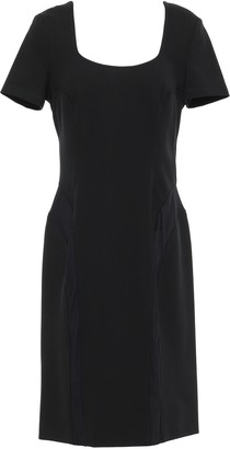 Versace Mesh-paneled Stretch-crepe Dress