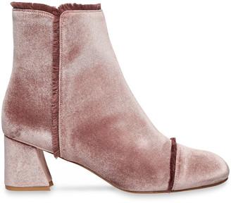 Stuart Weitzman Frayed Velvet Ankle Boots