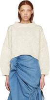 J.W.Anderson Beige Tie Back Sweater