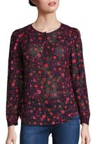 Rebecca Taylor Celia Floral-Print Top