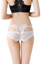 Motop Women Hollow Butterfly Briefs Sexy Lace V-String Panties Thongs G-String
