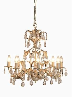 John Lewis & Partners Estabel Chandelier Ceiling Light, Cream