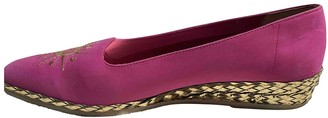 Bally Pink Suede Flats
