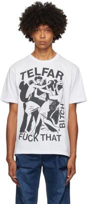 Telfar Off-White and Black Logo Graphic T-Shirt