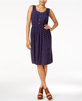 Maison Jules Polka-Dot A-Line Dress, Only at Macy's