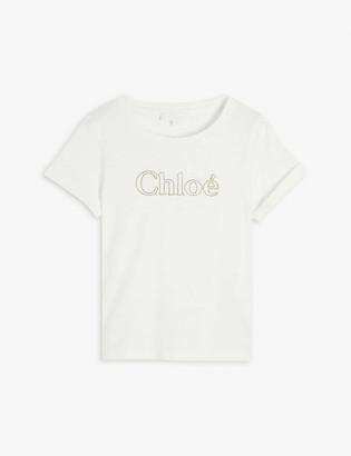 Chloé Logo-print cotton T-shirt 4-14 years