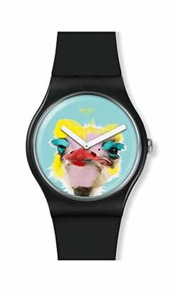 Swatch Men's Quartz Watch with Silicone Strap Black 22 (Model: SUOB159)