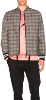 Lanvin Wool Prince of Wales Racing Jacket